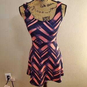 Charlotte Russe Chevron Sleeveless Dress Small